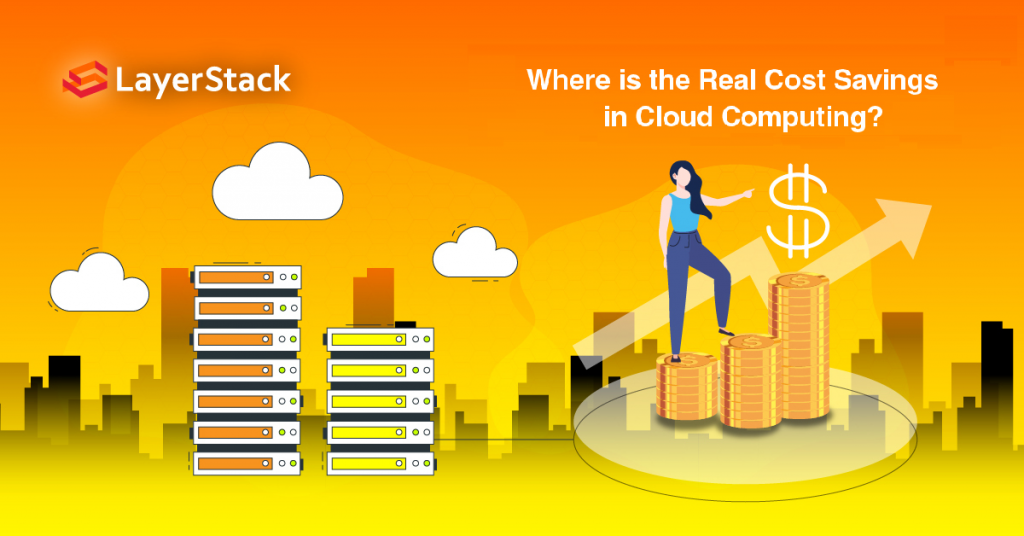 Where is the real cost saving in cloud computing