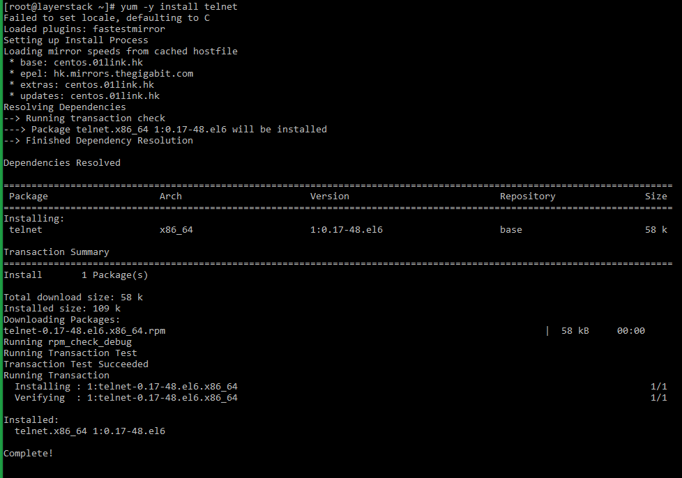 LayerStack - Installing Telnet Client on Linux and Windows Cloud Servers
