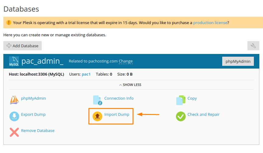 LayerStack - Import and Export MySQL Database