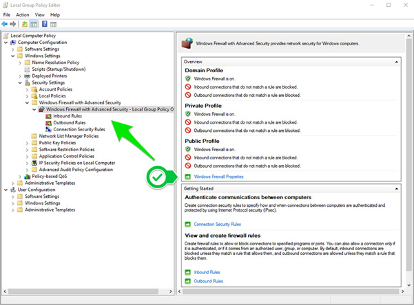 how to change from public to private network server 2016
